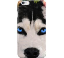 Siberian Husky Dog Colorful Art Water Color Paint iPhone Case/Skin