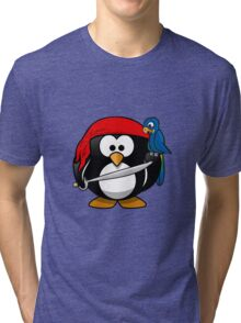 Penguin and Bird !  Tri-blend T-Shirt