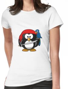 Penguin and Bird !  Womens Fitted T-Shirt