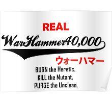 Warhammer SuperDry logo Poster