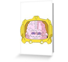 evil brain Greeting Card