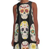 Mexican Sculls A-Line Dress
