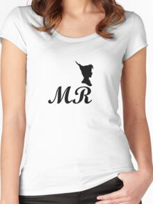 mr peter pan design Women's Fitted Scoop T-Shirt