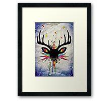 Flying Stag Framed Print