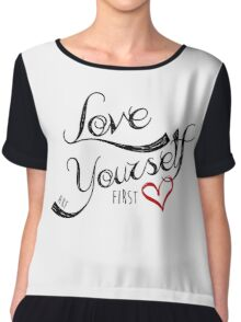 Love Yourself First Chiffon Top
