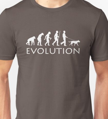 Evolution Dog Walker Unisex T-Shirt
