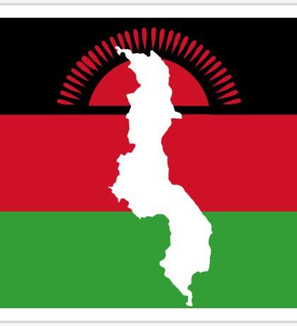 Malawi Flag With Map of Malawi Sticker