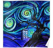 tardis starry night Poster