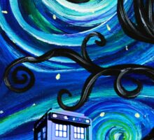 tardis starry night Sticker