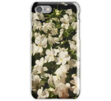 White Pansies and Flower Pots iPhone Case/Skin