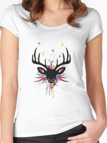 Flying Stag Women's Fitted Scoop T-Shirt
