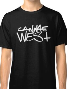 White Cannae West Logo Classic T-Shirt