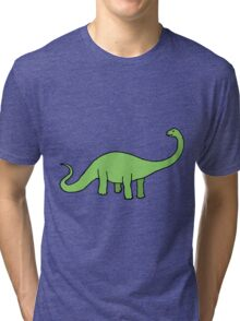 Happy Diplodocus Tri-blend T-Shirt