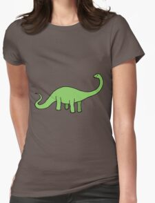 Happy Diplodocus Womens Fitted T-Shirt