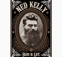 Ned Kelly - Such is Life Design in brown Unisex T-Shirt