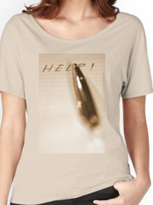 Pen Help Sepia Women's Relaxed Fit T-Shirt