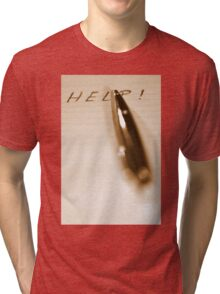 Pen Help Sepia Tri-blend T-Shirt