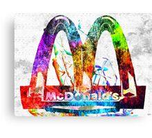 McDonald's Grunge Canvas Print