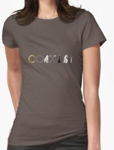Coexist LOTR Lord Of The Rings Womens Fitted T-Shirt