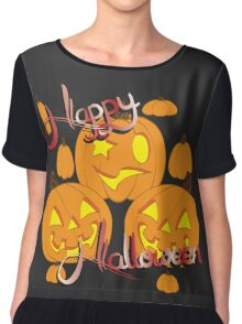 Halloween Chiffon Top