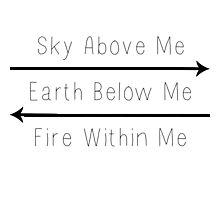Sky.Earth.Fire Photographic Print