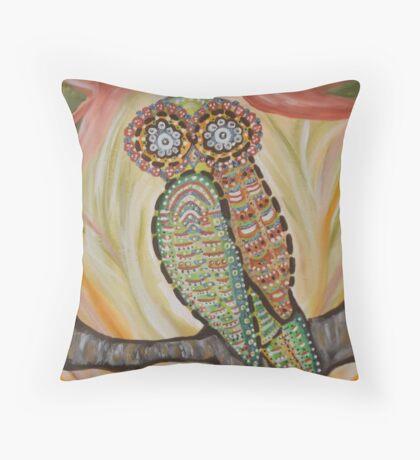 Vintage Owl  Throw Pillow