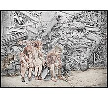 Homeless Children London WWII Photographic Print