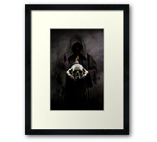 Burning skull Framed Print