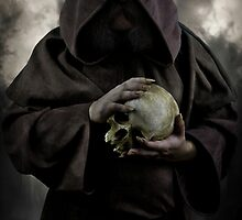 Wizard and an old skull by JBlaminsky
