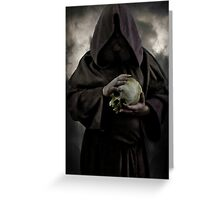 Wizard and an old skull Greeting Card