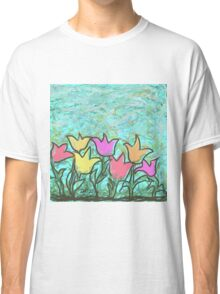 Happy Tulips Classic T-Shirt
