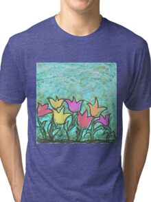 Happy Tulips Tri-blend T-Shirt