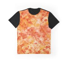 Peach Abstract Graphic T-Shirt