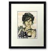 Retro Girl Framed Print