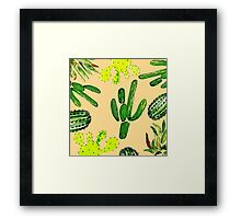 Cactus Party Framed Print