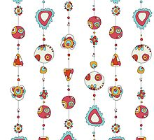 pattern with beads on thread by lisenok
