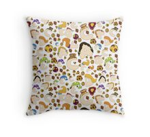Children alphabet with hair style Throw Pillow