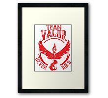 Valor Never Dies Framed Print