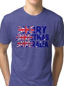 MERRY CHRISTMAS AUSTRALIA Tri-blend T-Shirt