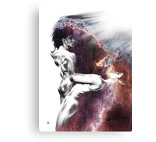 Shadowtwister Formation conté drawing - textured Canvas Print
