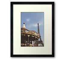 Paris, Merry-go-round... Framed Print