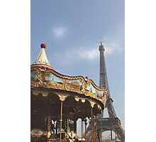 Paris, Merry-go-round... Photographic Print