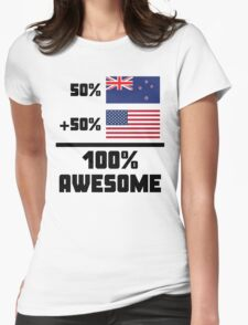 Awesome Kiwi American Womens Fitted T-Shirt