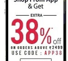 38% OFF on order above Rs. 2499 - Jabong coupon code by couponvala
