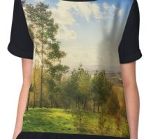 Sun Rays Over Clent Hills Chiffon Top