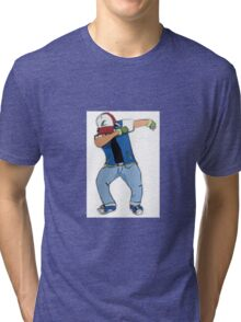 Ash Ketchum Dab Tri-blend T-Shirt