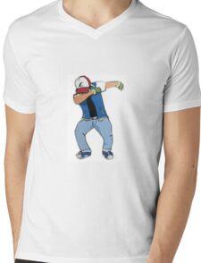 Ash Ketchum Dab Mens V-Neck T-Shirt