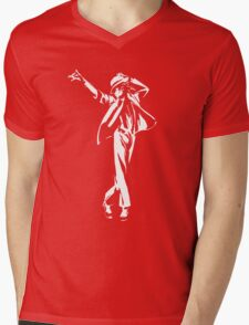 Michael Jackson Mens V-Neck T-Shirt