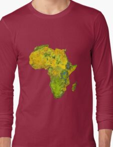 Physical African Continent Long Sleeve T-Shirt