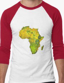 Physical African Continent Men's Baseball ¾ T-Shirt